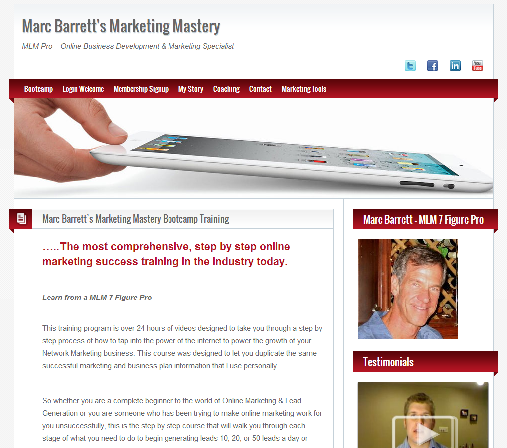 marc barrett marketing mastery empower network